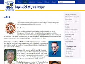 An article page of Loyola School, Jamshedpur
