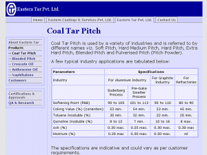 Eastern Tar / Coatings - Product page